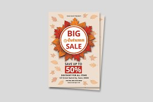 Fall Autumn Sale Flyer V639