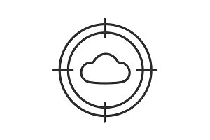 Aim on cloud  linear icon