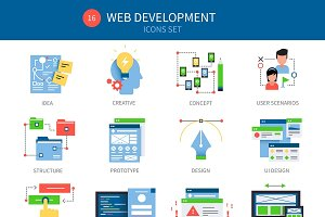 Web Development Icon Set