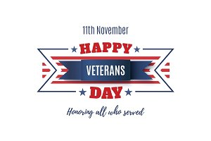 Veterans Day abstract background.