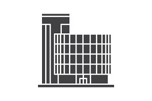 Office building glyph icon
