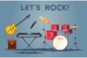 Rock instruments.