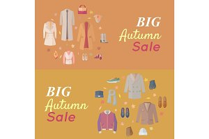 Seasonal Sale Vector Concept in Flat Design