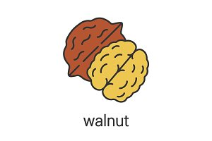 Walnut color icon