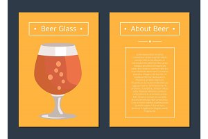 Beer Glass Collection of Posters with Inscription
