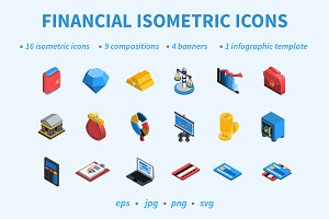 Financial Isometric Icons