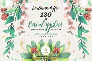 -90% Greenery Watercolor Eucalyptus2