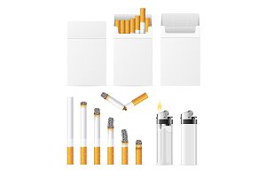 Cigarette and Accessory Set.