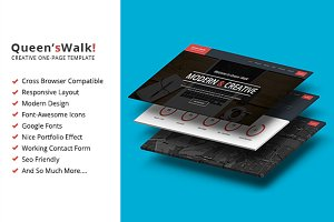 QueensWalk - One Page Site Template