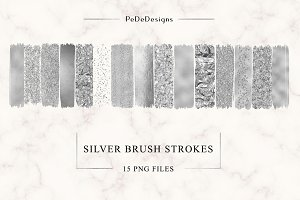 Silver Strokes Clip Art