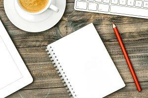Keyboard notebook coffee