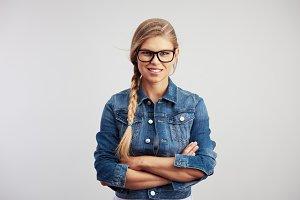 Fashion girl in specs