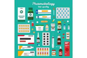 Pharmacology Best Quality Vector Illustration