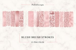Blush Strokes Clip Art