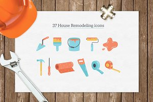 37 House Remodeling icons
