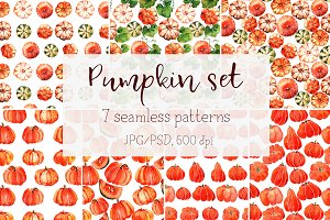 "Watercolor texture ""Pumpkin"""