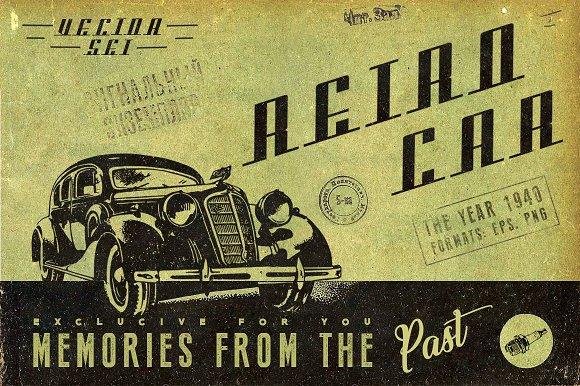 Retro Car-Graphicriver中文最全的素材分享平台