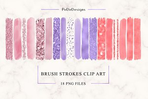 Brush Strokes Clip Art