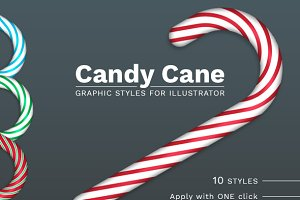 Illustrator Candy Cane styles
