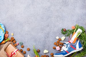 Dutch holiday Sinterklaas background