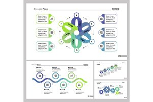 Four Strategy Slide Templates Set