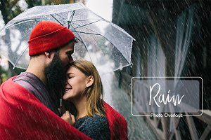 20 Rain Photo Overlays