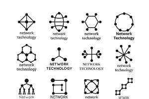 Network technology symbols