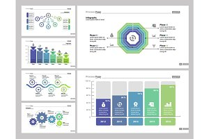 Six Analytics Slide Templates Set