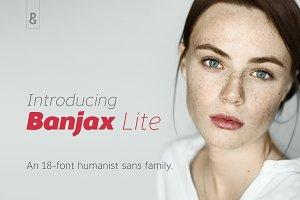 Banjax Lite an18-Font Humanist Sans