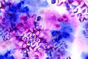 watercolor flowers seamless | JPEG