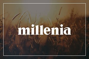 Millenia - Serif Font
