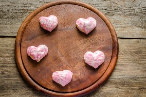 Sweet hearts on Valentine's Day
