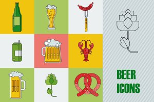 9 beer icons