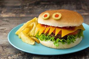 Halloween burger monsters