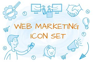 Web maketing icon set