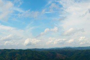 panorama of mountains in Burma.