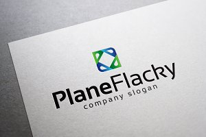 Plane Flacky Logo