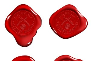 Stamp Wax Seal Red