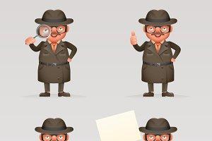 Cute detective spy