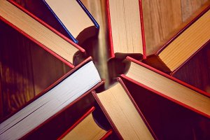 Books and education concept.