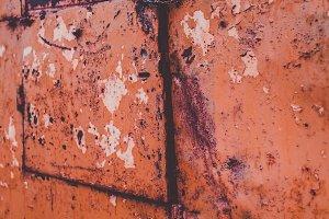 Red Rusty Old Metal Door