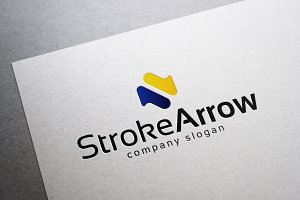 Stroke Arrow Logo