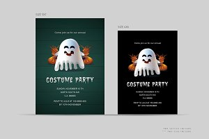 Halloween costume party invitations