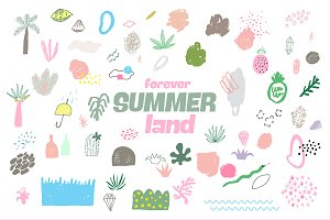 Forever Summer Land Abstract Design