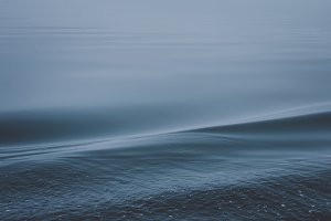 Blue Ocean Wave Background