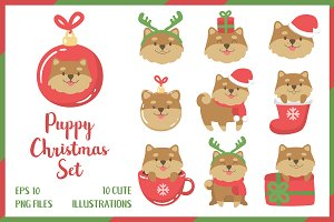 Puppy Christmas Set