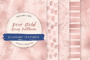 Rose Gold Messy Patterns III