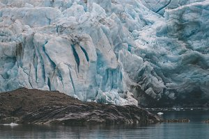 Details of a Glacier in the Arctic