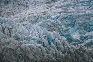 Details of Arctic Glacier, Svalbard