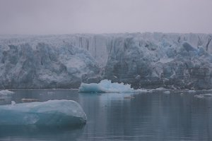 Icebergs and Glacier in the Arctic